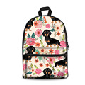 Рюкзак на молнии с принтом таксы для девочек-подростков  легкая женская сумка  Повседневная Холщовая Сумка на плечо