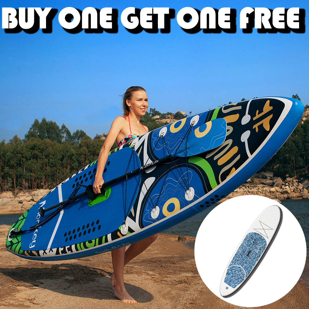 Planche gonflable Stand Up Paddle planche Sup-planche de Surf Kayak Surf avec sac à dos, laisse, pompe, sac étanche, aileron, achetez-en un gratuitement