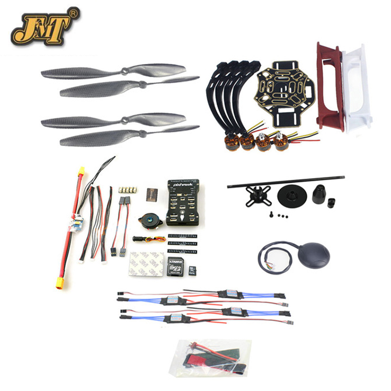 JMT DIY FPV Drone Quadcopter 4-axle Aircraft Kit F450 450 Frame PXI PX4 Flight Control 920KV Motor GPS 1043 Propes 30A ESC diy multirotor drone flight control kit apm 2 8 flight controller m8n gps black shell for f450 f500 f550 quadcopter