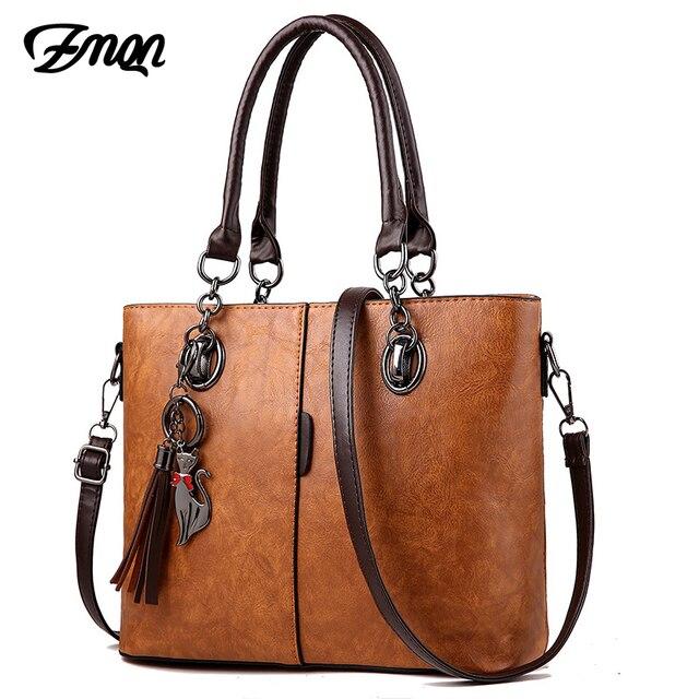 Zmqn bolsa feminina de luxo, bolsa feminina grande de mão modelo carteiro feita em couro, estilo 2020