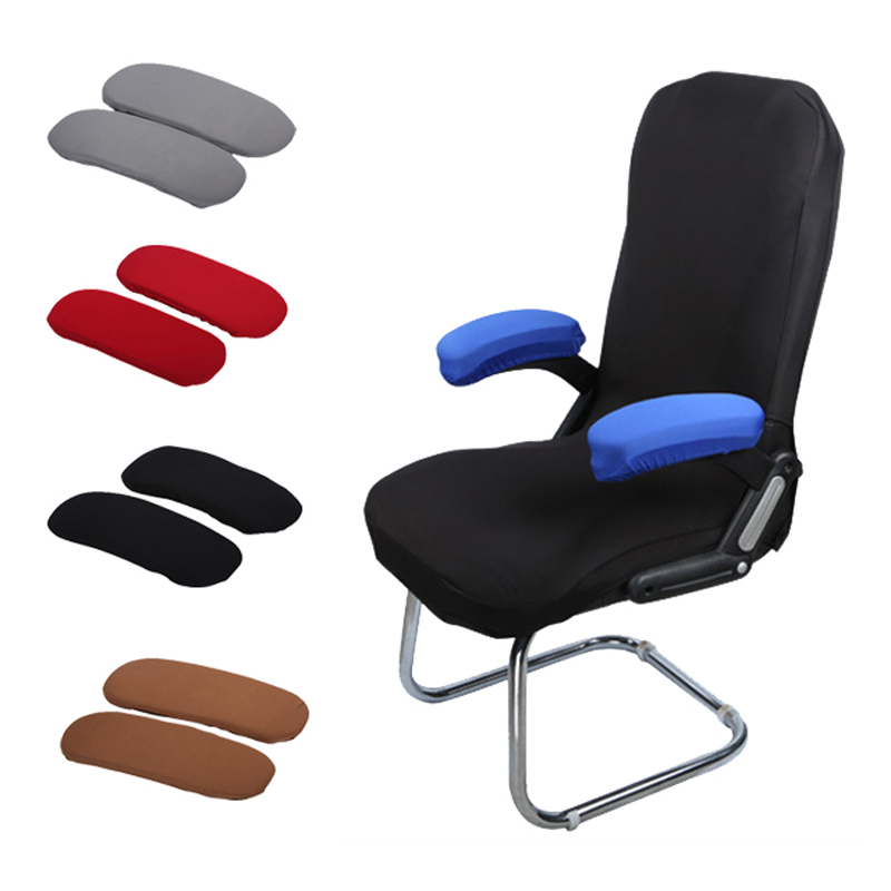 2 Pcs Armrest Gloves For Office Chairs Polyester Sleeve ...