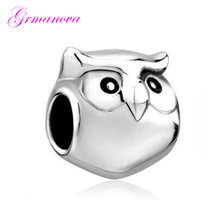 Beads jewelry jewelry bracelet jewelry zinc alloy pendant cute owl charm beads Fit Pandora Necklace bracelet(China)