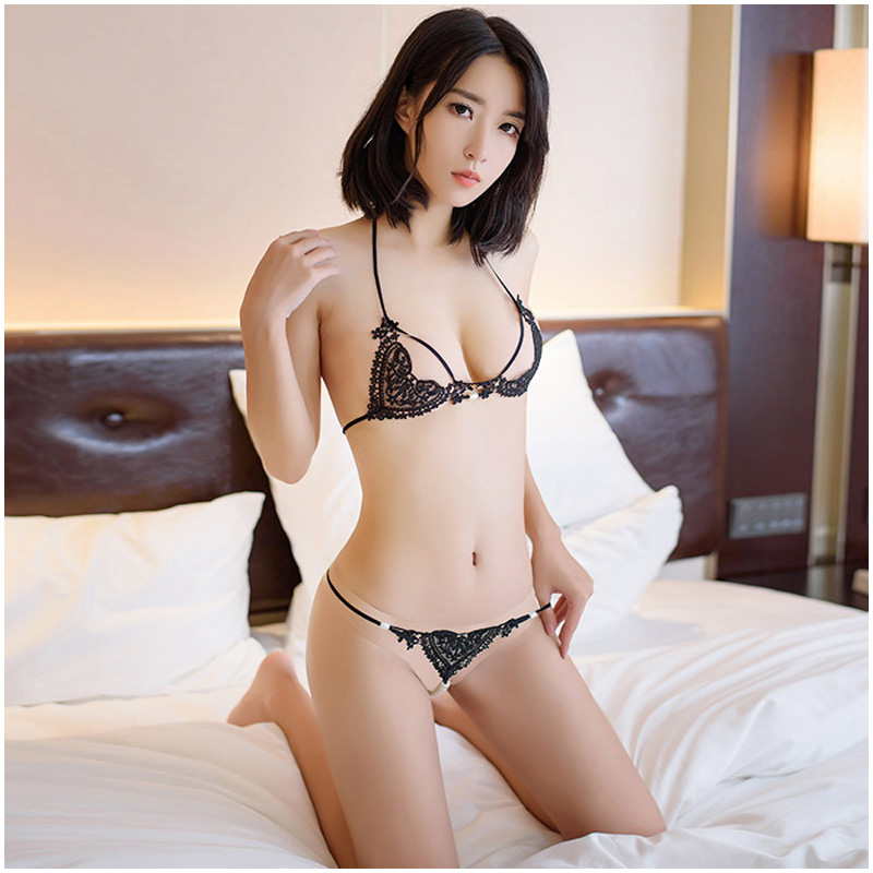 <font><b>Sexy</b></font> Erotic <font><b>Lingerie</b></font> Women Set <font><b>Push</b></font> <font><b>Up</b></font> Bra <font><b>Baby</b></font> <font><b>Doll</b></font> Lace Backless Negligee <font><b>Sexy</b></font> Hot Exotic Apparel Straps Pearl Sex G String image