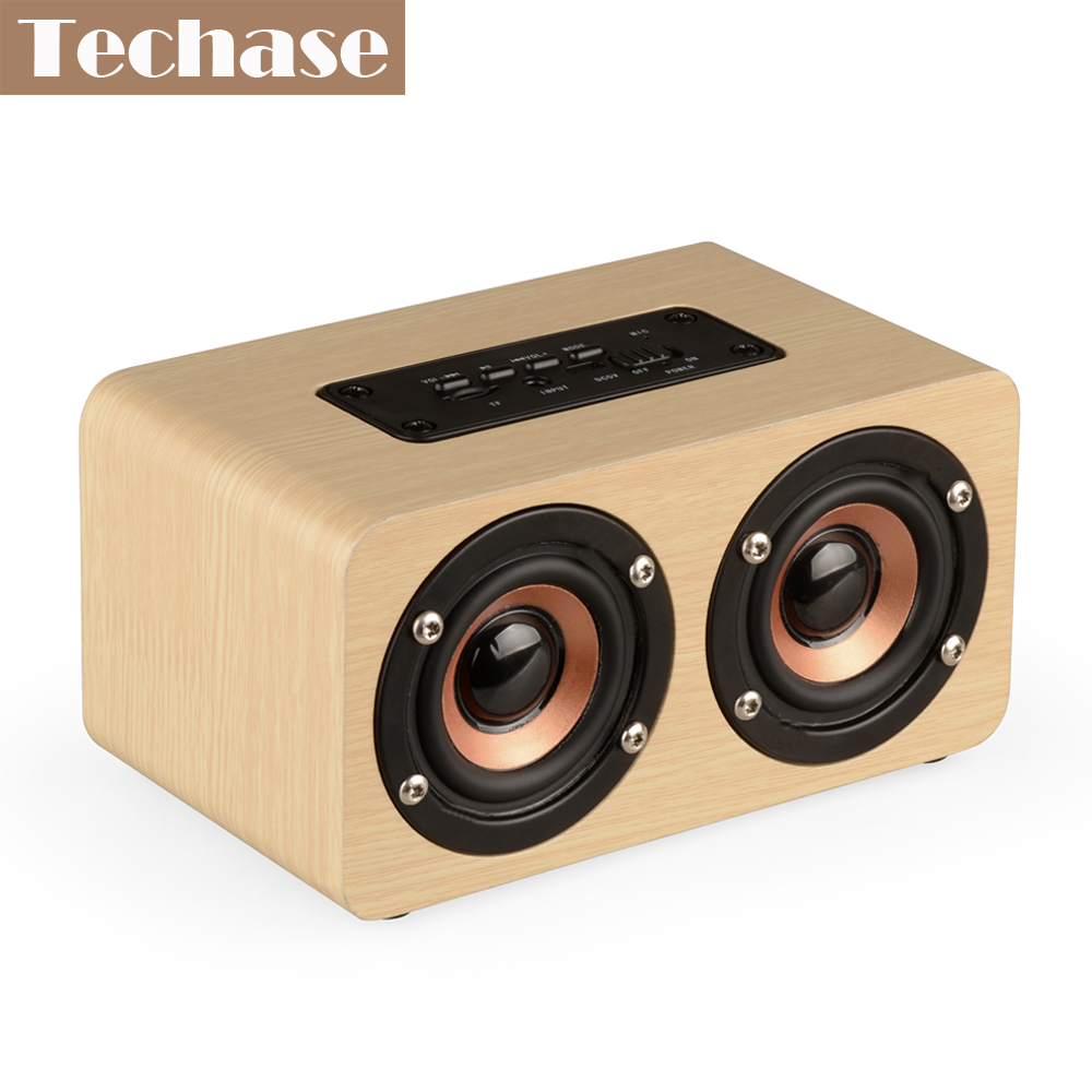 Techase Bluetooth Lautsprecher Bamboo Caixa De Som Drahtlose Mini - Tragbares Audio und Video - Foto 2