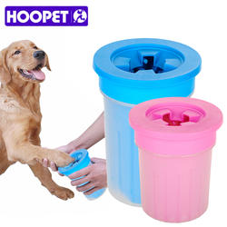 HOOPET Pet кошки собаки ног чистый чашки для собак кошек инструмент для очистки мягкой Пластик щетка для мытья Paw шайба Pet Аксессуары для собак