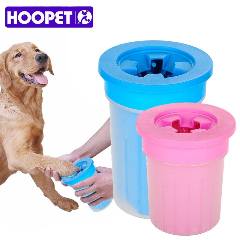 HOOPET mascotas Gatos Perros pie taza limpia para perros, gatos, herramienta de limpieza de plástico suave cepillo de lavado pata lavadora accesorios para mascotas para perro