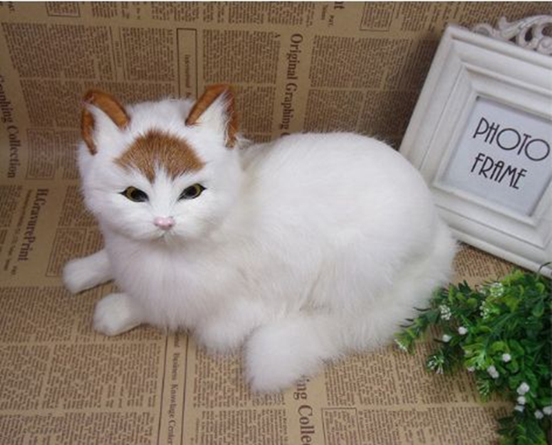 16e5a5378ca6 ... Dorimytrader realistic animal lying cat plush toy lifelike mini cats  pet toy decoration gift 31x18cm DY80011 ...