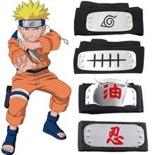 1pc Cool Naruto Forehead Fashionable Guard Headband Cartoon Anime Cosplay Uzumaki Naruto Headband Toy Gift For