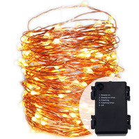 Waterproof 6AA Battery Operated 5Modes Timed Flash String Lights 66ft 20meters LED Copper Wire Fairy Lights