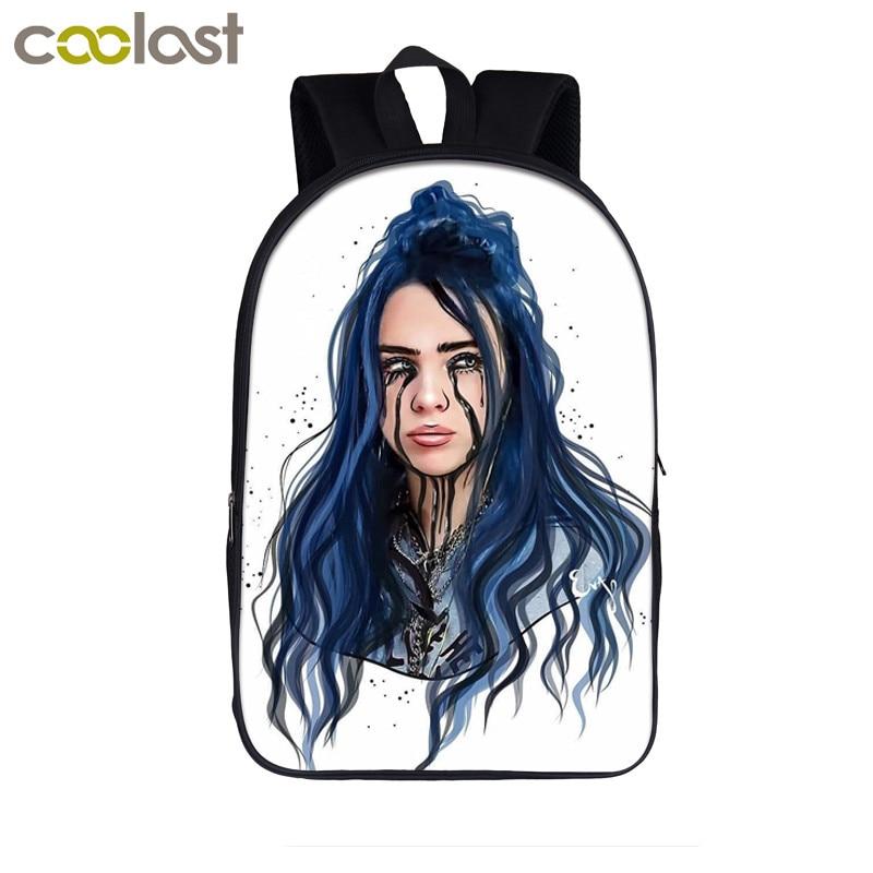 Rapper Billie Eilish School Bags Teenager Girls Hip Hop Backpack Women Casual Travel Bags College Student School Backpacks
