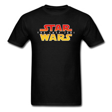 Slogan T Shirts Text Star Wars Ombre Logo Glowing Tshirt For Men The Last Jedi Mens Print T-Shirt Summer Streetwear Tops Tees