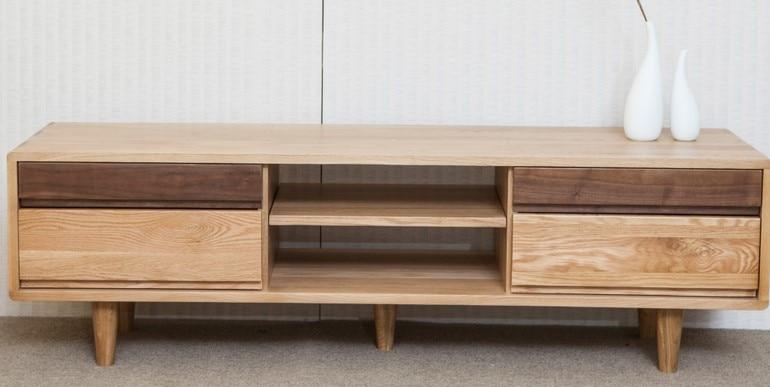 Smal Tv Meubel.Japanese Original Nordic Small Apartment Wood White Oak Tv Cabinet