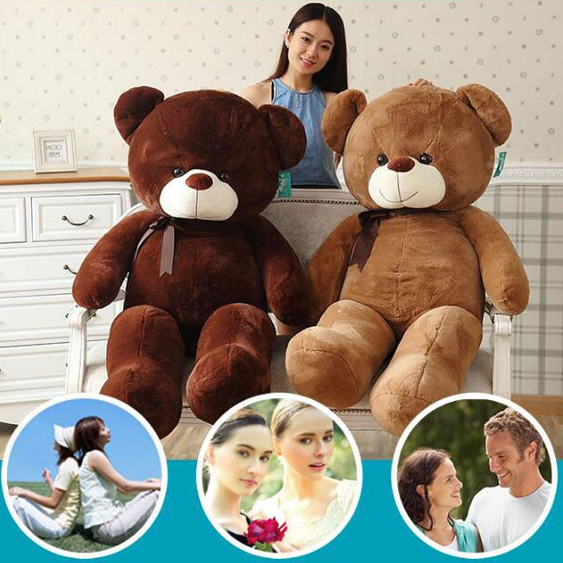 LANBEIBEI High Quality Stuffed Doll 140cm Teddy Bear Plush Toys Animals Bear Children's Birthday Kids Stuffed Gift Plush Toys