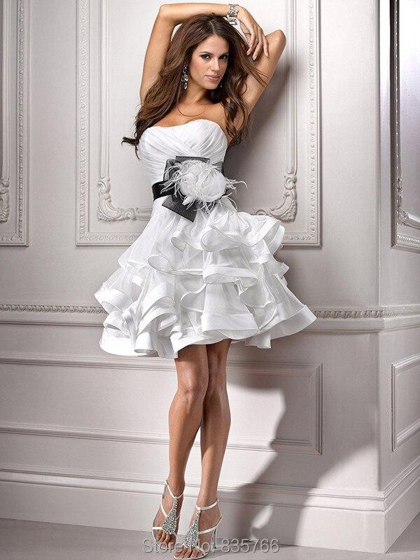 Online Buy Wholesale short ruffled mini wedding dresses from China ...