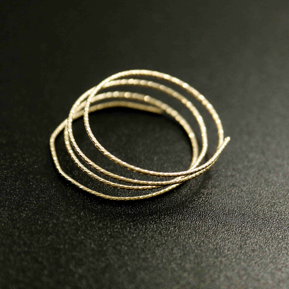1meter 14-24gauge 0.51-1.63mm Hard Gold Filled Color Not Tarnished Beading Jewelry Faceted Wire Supplies Findings 1505018