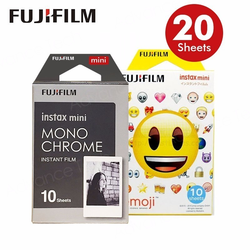 2017 Genuine Fujifilm Fuji Instax Mini Film AIR MAIL Monochrome Mono Frame .Film for 70 8 Plus 90 25 Camera SP-1 SP-2 lomo