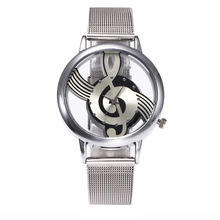 Hot money, hollow notes, steel band, quartz watch, personality, silver, simple trend, new watch.