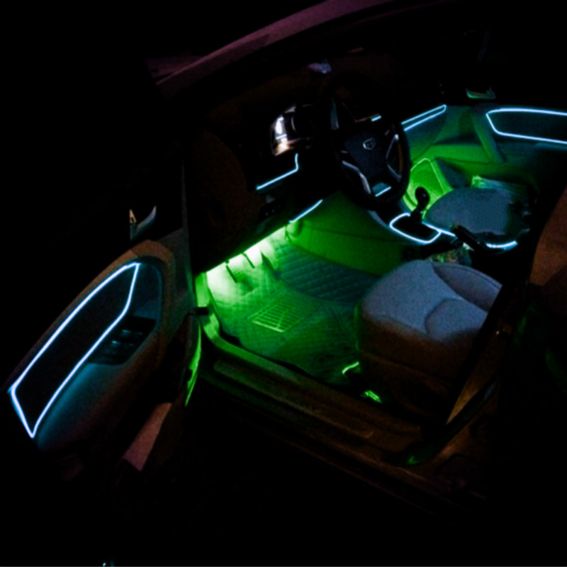JURUS wasserdicht 10 Farben DIY Dekoration 12 V Auto Car Interior ...