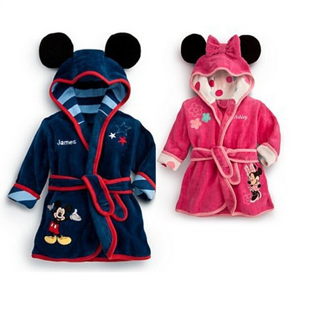 Free shipping Hooded Long-sleeved Minnie Cartoon Animal Piece Tracksuit Boy And Girls Ki ...