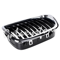 L&R Side Pair Front Kidney Grill Grille Chrome Black for 1998 2003 BMW E39 M5 520 525 530 540