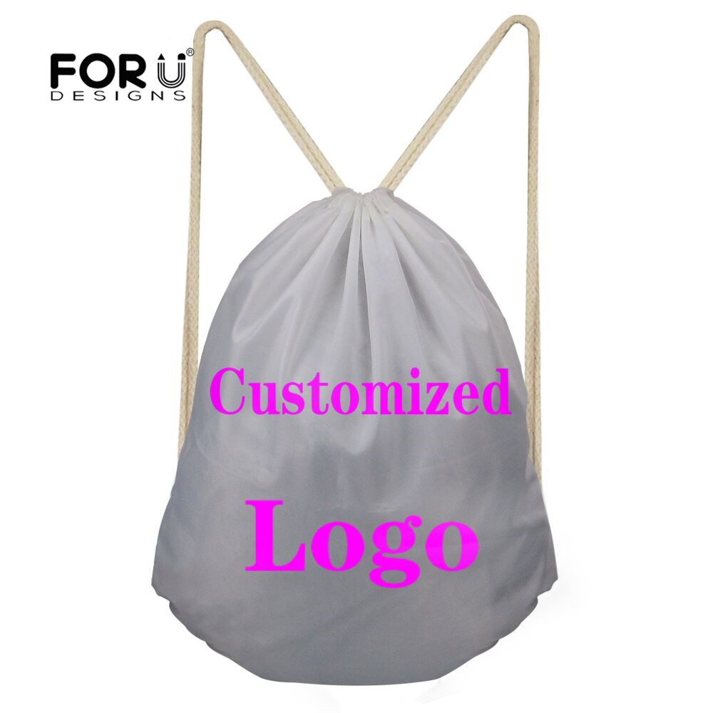 FORUDESIGNS Customize Printing Women Drawstring Bag Small Backpacks For Children Girls Casual Beach Sack Pouch Mochila Sac A Dos