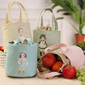 Waterproof Thermal Cooler Insulated Lunch Container Lunch Box Carry Bag Lunch Bag Cute Tote Canvas Picnic Pouch for Women