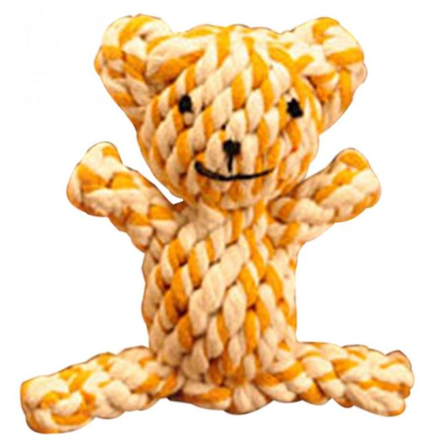 Funny Pet Toy Cute Braided Rabbit/Bear Pattern  Chew Knot Toys Dog Pet Puppy Strong Cotton Rope Play Toy