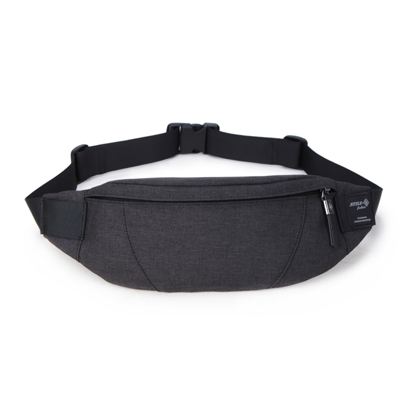 Hk Fanny Pack Black Waterproof Money Belt Bag Men's Waist Bag Packs