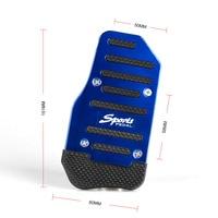 RASTP-3 Pcs/set Universal Aluminum Manual Series Automatic Non-Slip Car Pedal Cover Set Kit RS-ENL018