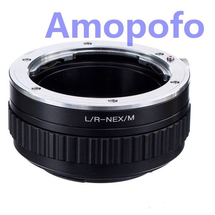 AMOPOFO LR-NEX/M macro mise au point hélicoïdale Pour Leica R L/R Lentille pour Sony NEX-3N NEX-6 NEX-5R NEX-F3 NEX-7 NEX-5N NEX-5C Caméra