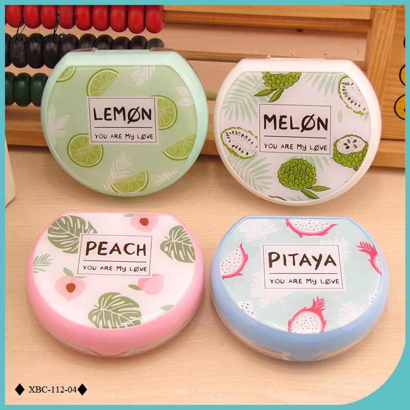 be9ad270ecc2 Lymouko New Style Sector Fresh Fruit Patterns with Mirror Contact ...
