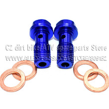Hydraulic Clutch and Brake Oil Hose Fuel Hose oil cooler  Refitting aluminum M10 Bolts For Connector End цена