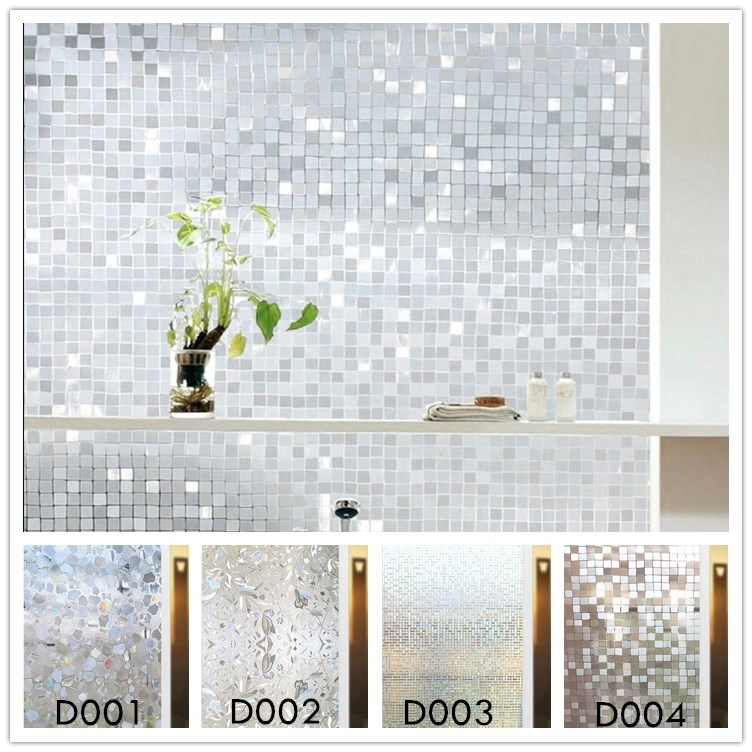 Window Glass films Long-lasting Quick Easily Remove 3D Static Decorative Frosted Window Film Window Cover Sticker Size 45 x 200