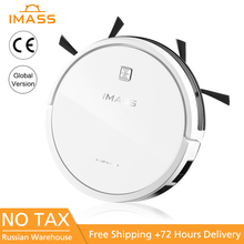 IMASS A3EC Robot Vacuum Cleaner Low Noise Silm Design Electric Control Water Tank Powerful Cleaning Hard Floor Auto Charge цена в Москве и Питере