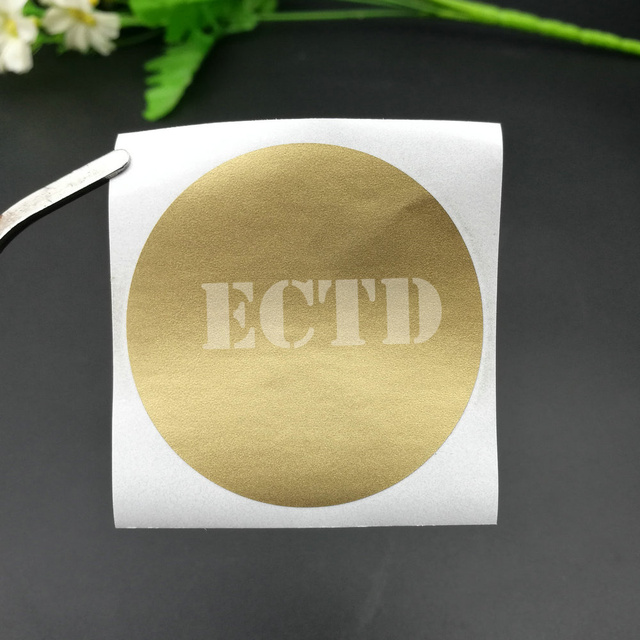 50pcs scratch off stickers 50x50mm 2 circle gold color round shape for games wedding party