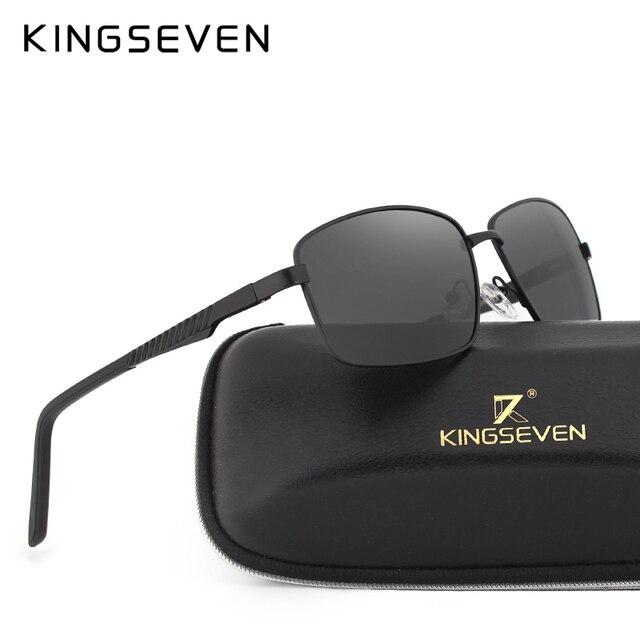 021c231c02 Kingseve marca rectangular gafas de sol hombres y mujeres neutral retro  gafas de sol con lentes
