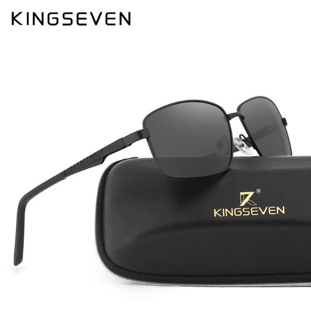 8cf03c4f61d0a Neutro KINGSEVE Marca retangular óculos de sol masculino e feminino óculos  de sol retro óculos de