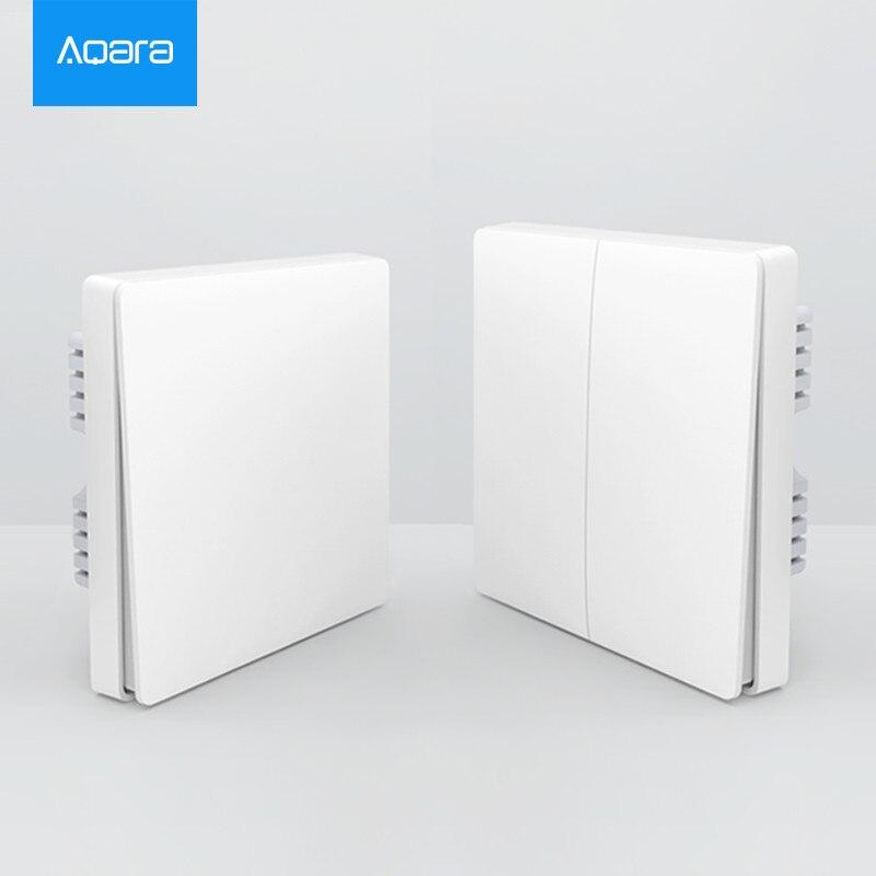 2018 original Xiaomi Aqara Mijia Chave e Interruptor de Parede de Controle Sem Fio ZiGBee Smart home Luz Via Smarphone APP Remoto Por xiaomi