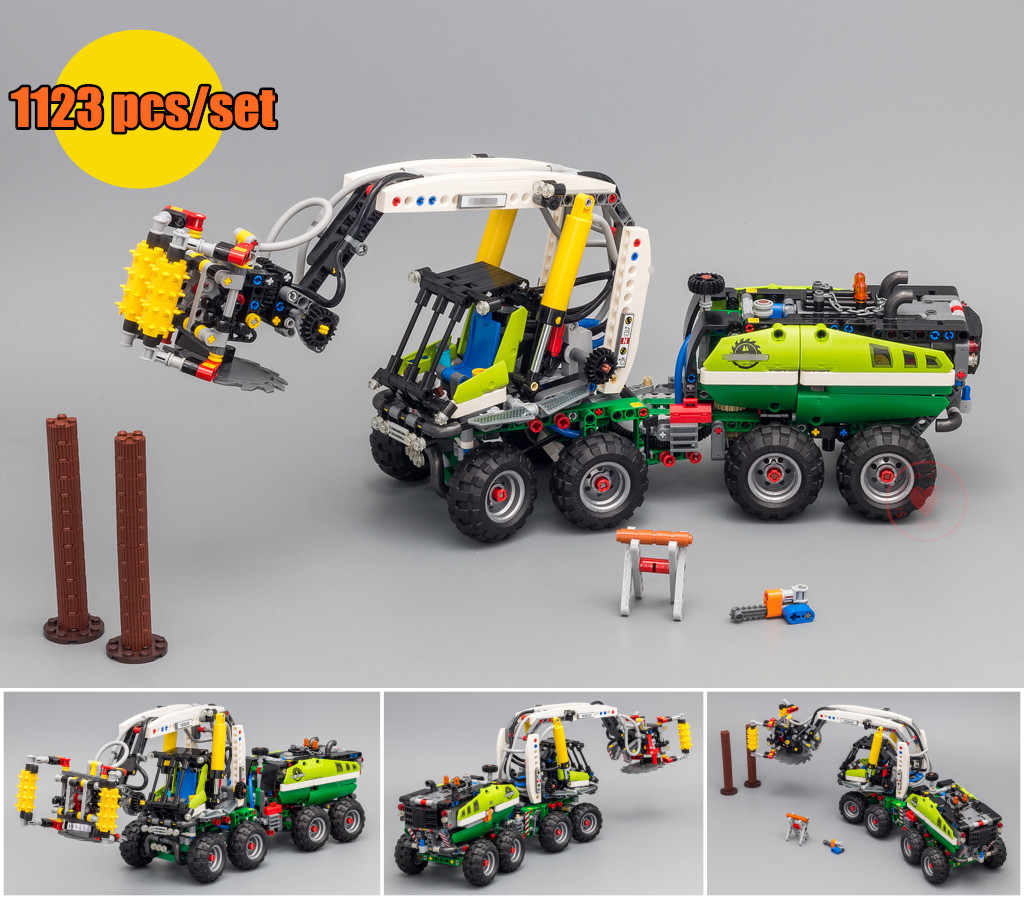 New Technic Blocks Forest Harvester machine fit legoings technic Truck city 42080 Building block Toy Bricks Model Kids diy Gifts