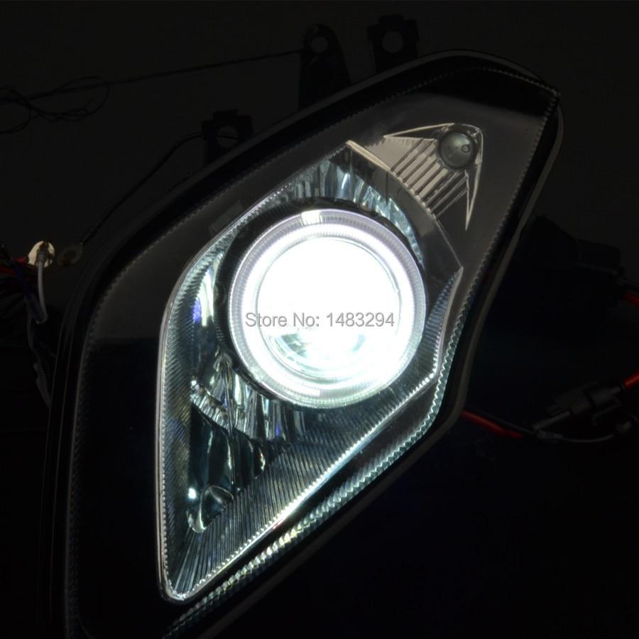 series drl projector black bmw sedan headlights