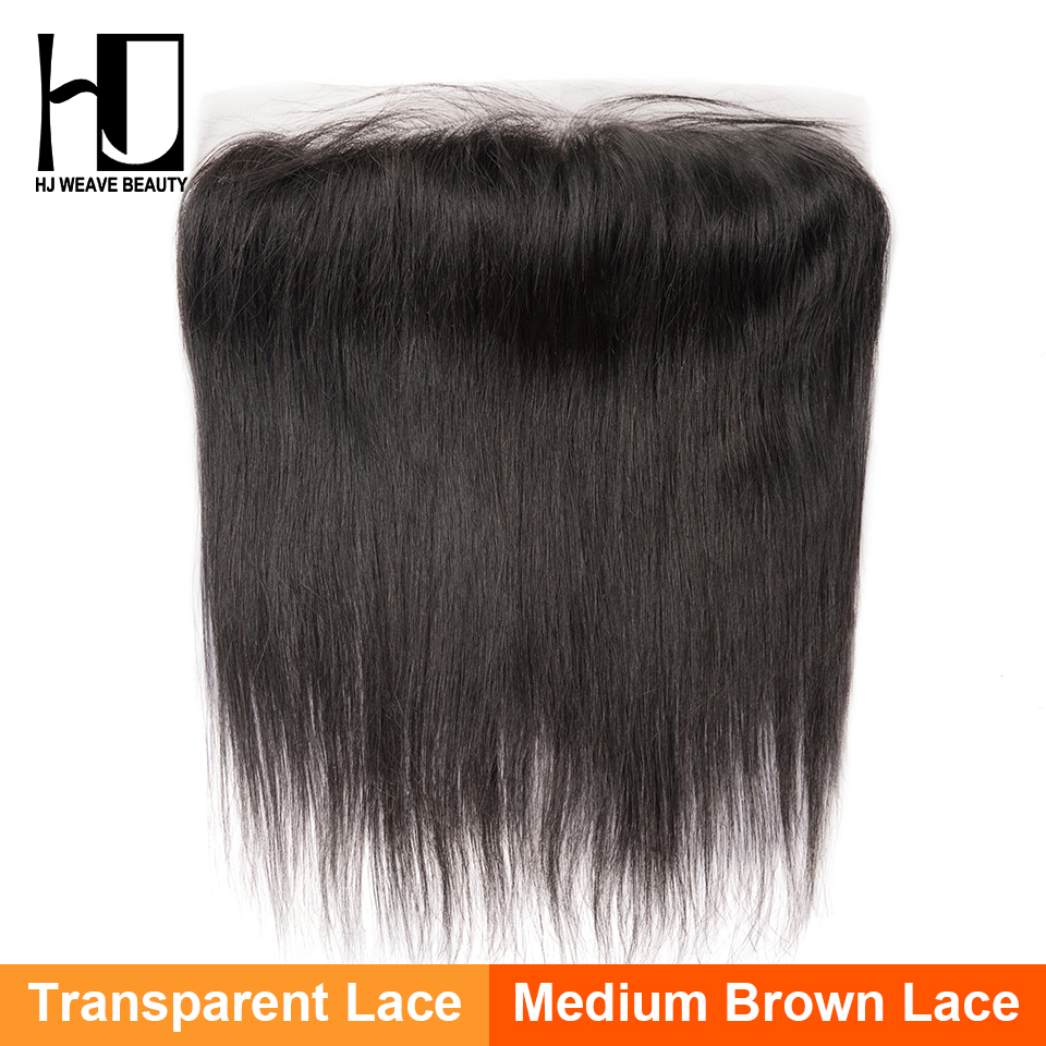 HJ Weave Beauty Indian Straight 13 4 Lace Frontal HD Transparent Lace Frontal Closure 100 Human
