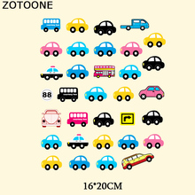 ZOTOONE Car Patch Cartoon Iron On Transfers For Children Clothing Embroidery Thermal Transfer Paper Appliques Heat Press C