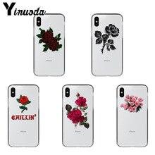 Yinuoda Rose kwiaty kolorowe akcesoria do telefonów etui na iPhone Xr XsMax 8 7 6 6S Plus Xs X 5 5S SE 5C