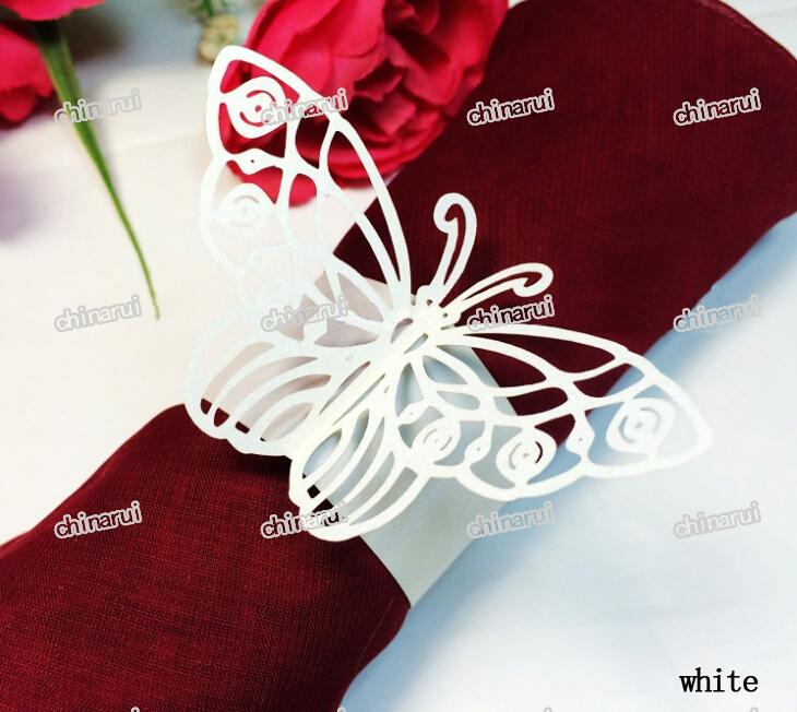 ala de la mariposa de papel wrap toalla clip de decoracin de la mesa para