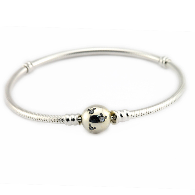 Authentic 925 Sterling Silver Jewelry Mouse Clasp Bracelets Free Shipping