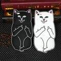 2016 Новый Cool 3D Мультфильм Ripndip Господь Nermal Карманные Cat Силиконовой Резины задняя Крышка Case Для iPhone 7 7 plus 6 6 s плюс 5 5S