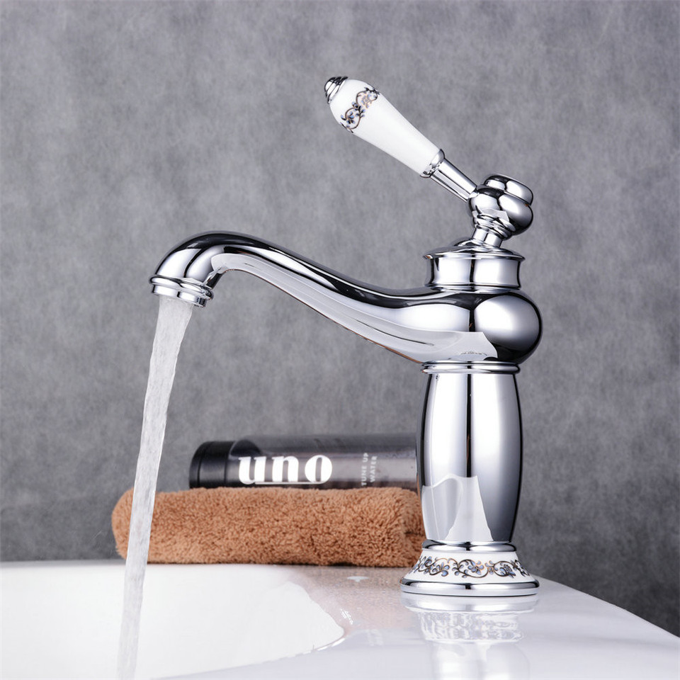 Bathroom Faucet Antique bronze finish Copper Brass Basin Sink Faucet Single Handle water taps Water Mixer Water Tap Faucet contemporary concise bathroom faucet antique bronze finish brass basin sink faucet single handle water taps dona2118