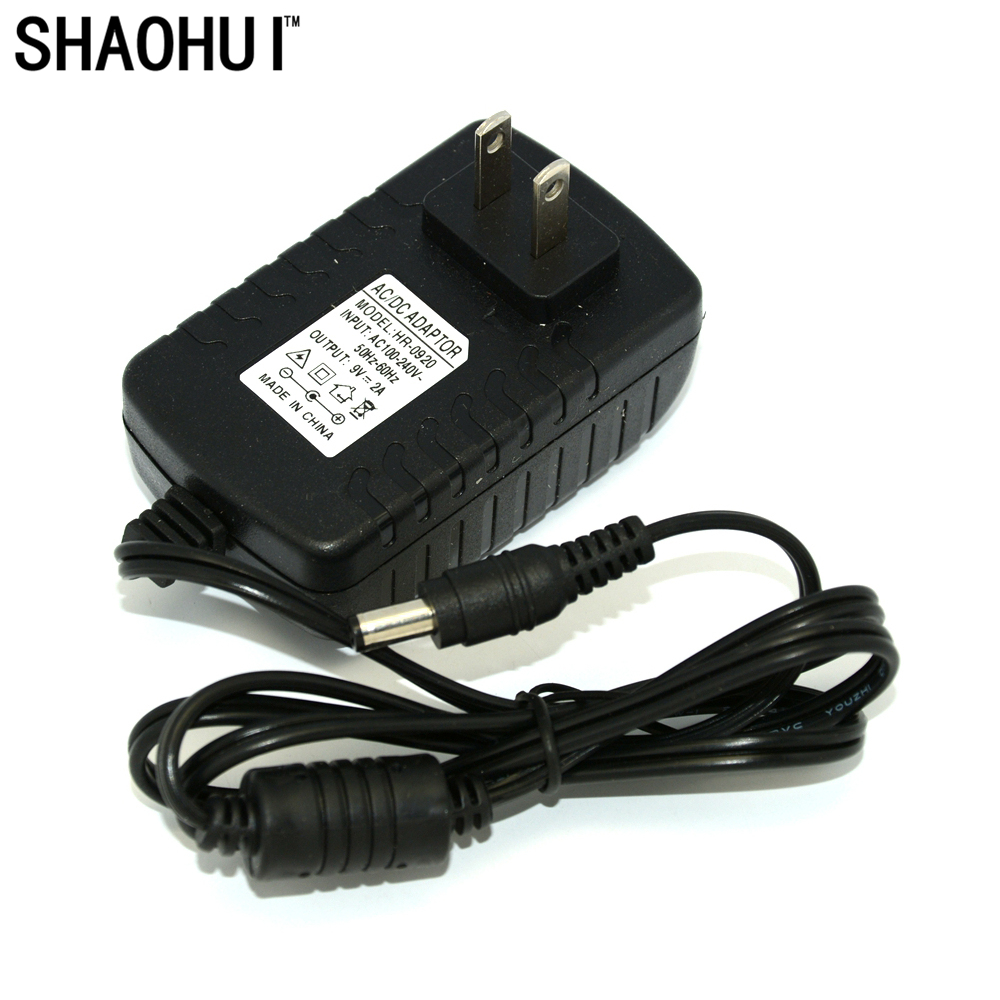 1000pcs 9V 2A AC 100V 240V Converter Adapter DC 9V 2A Power Supply US Plug 5.5mm x 2.1 2.5mm for LED CCTV Free shipping