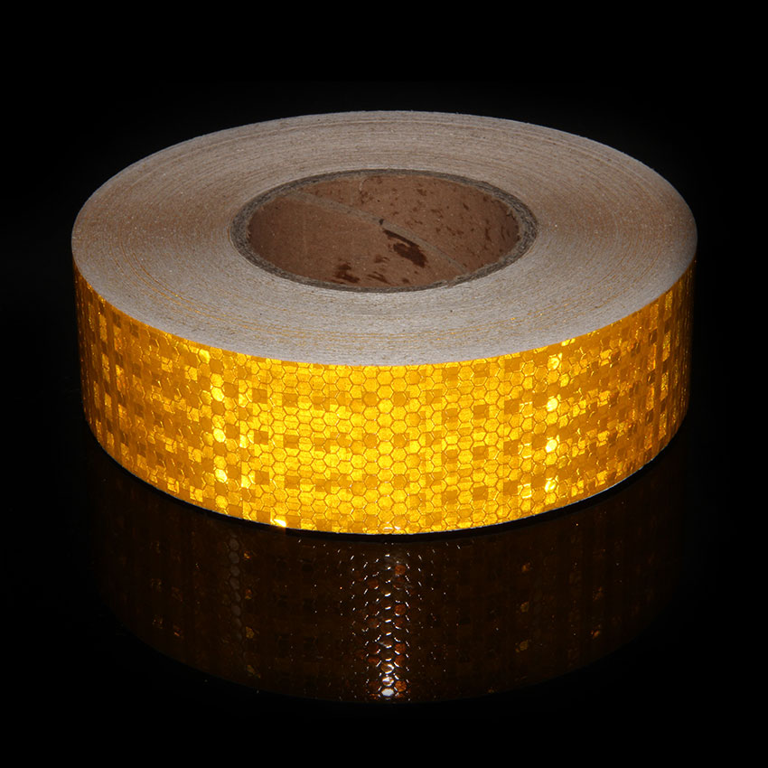 PVC Tape Yellow Reflective Tape Stickers Moto Car Styling Reflective Tape On The Trailer Bicycle Car Reflective Sticker Safety reflective front mitsubishi shelf reflective car stickers ling yue v3 lancer car stickers