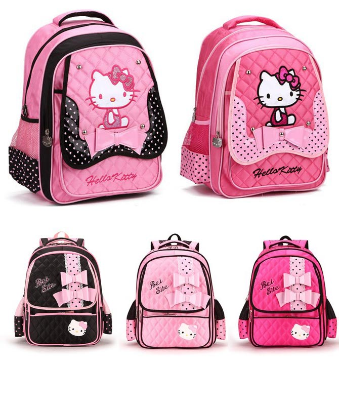 kids backpacks school bags cute hellokitty shoulder school